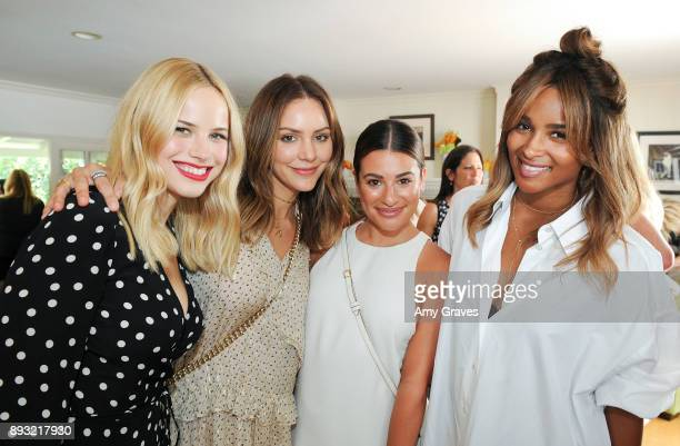 Halston Sage Katharine McPhee Lea Michele and Ciara Wilson attend the Jen Klein Day of Indulgence on August 13 2017 in Los Angeles California