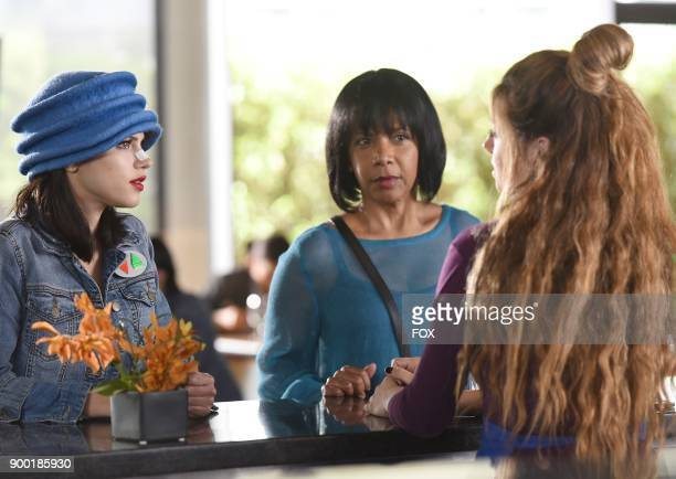 Halston Sage Penny Johnson Jerald and guest star Giorgia Whigham in the Majority Rule episode of THE ORVILLE airing Thursday Oct 26 on FOX