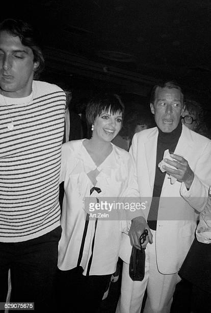 Halston with Liza Minnelli and her husband Mark Gero at Studio 54; circa 1960; New York.