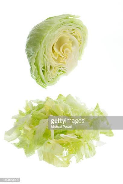 Halved and sliced Iceberg lettuce