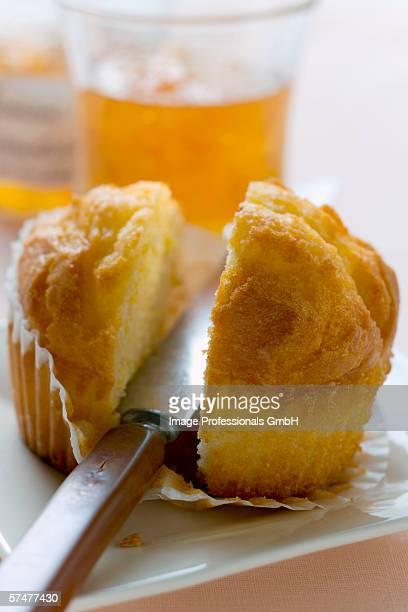 Halved muffin
