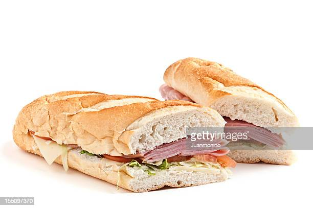 ham and cheese sandwich - submarine sandwich stock pictures, royalty-free photos & images