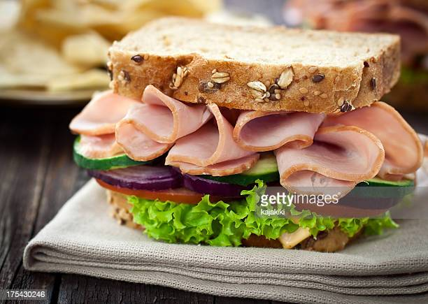 ham and cheese sandwich - delicatessen stock pictures, royalty-free photos & images