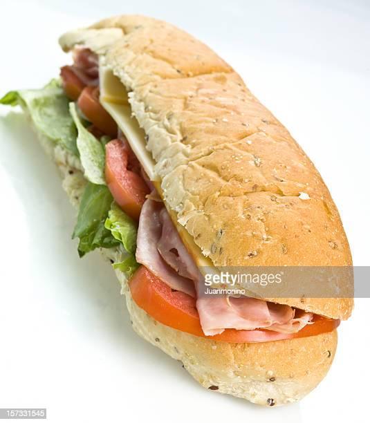 Au jambon et au fromage Sandwich sous-marin