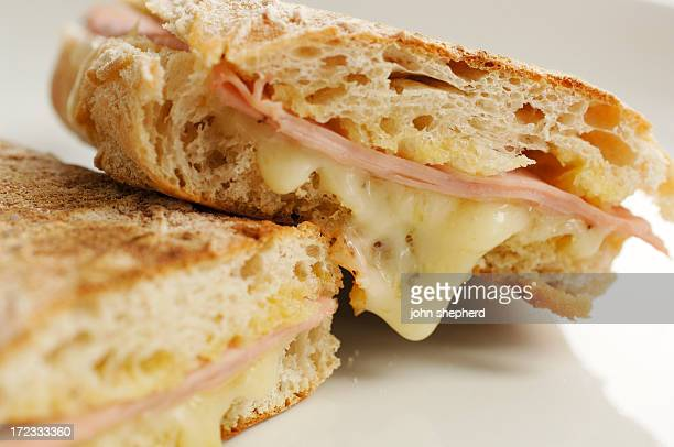 Ham and cheese toasted ciabatta