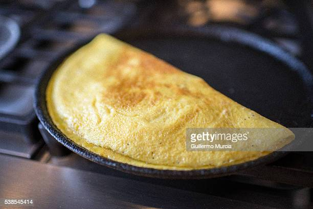 Ham and Cheese with Shitake Mushrooms Omelet