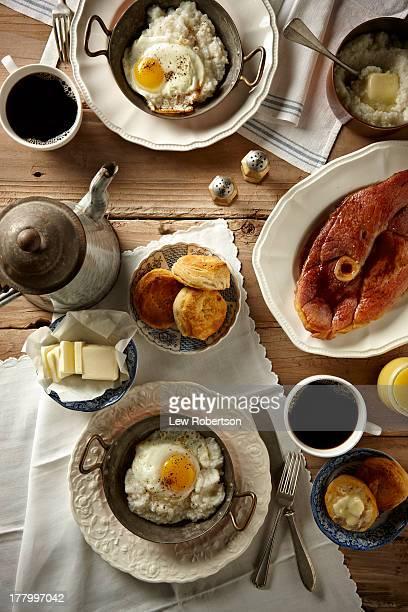Ham and egg breakfast