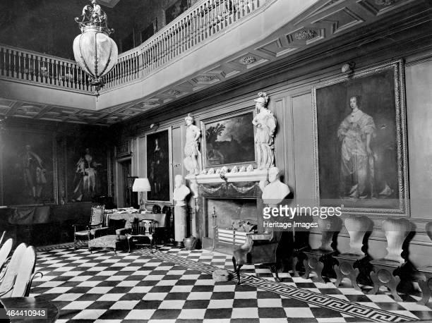Ham House, Richmond, London. This is the great hall with its gallery. It was first built in 1610 by Sir Thomas Vavasour, but was greatly altered...