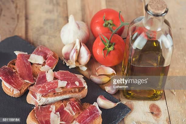 Ham On Toasted Bread