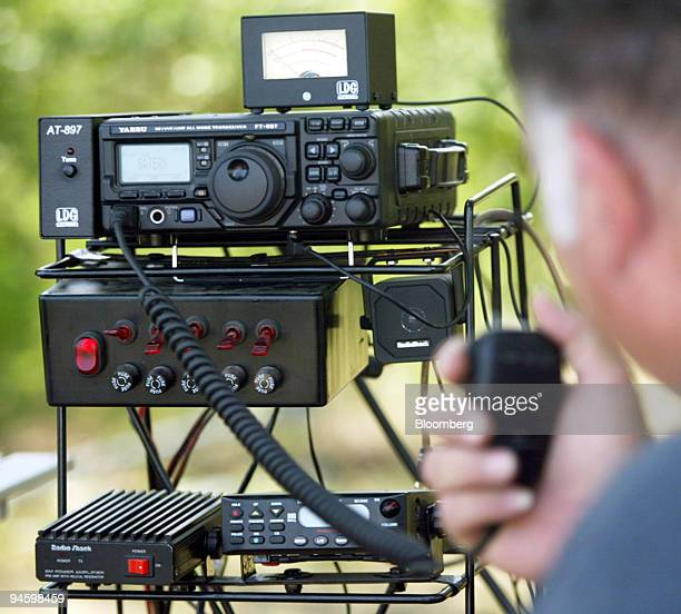 A ham radio setup is used during The National Association for Amateur Radio Field Day in Benbrook Texas Saturday June 24 2006 Operators all over the...
