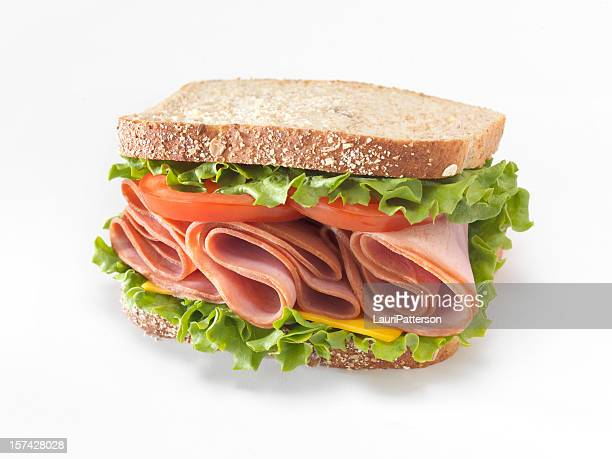 ham sandwich - ham stock pictures, royalty-free photos & images