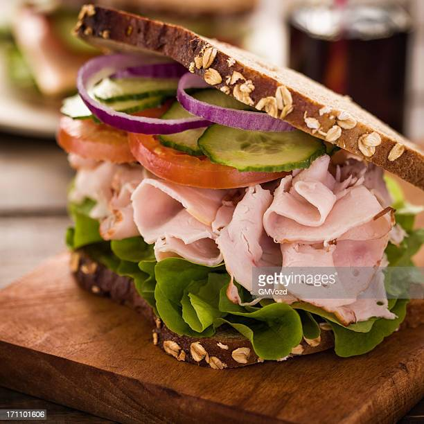 ham sandwich - club sandwich stock pictures, royalty-free photos & images
