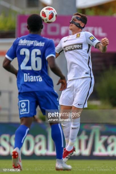 Hamacire Youba Diarra of Hartberg and Bjarne Thoelke of Admira during the tipico Bundesliga match between TSV Hartberg v FC Admira at Profertil Arena...
