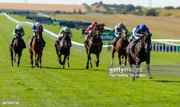 Hamada ridden by William Buick wins the Gordon's Handicap during day two of The Moet Chandon July Festival at Newmarket Racecourse