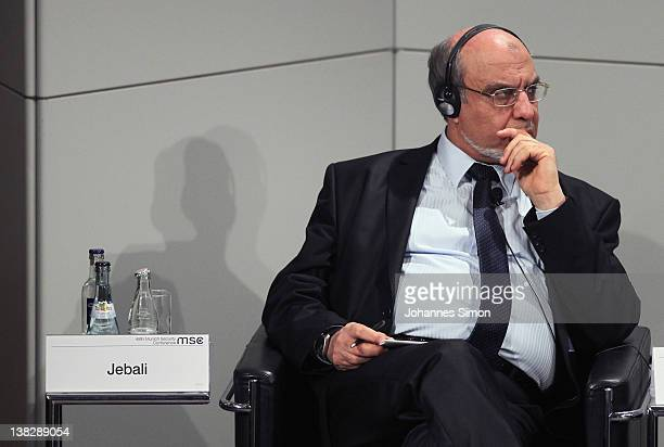 Hamadi Jebali Tunisian prime minister participates in a panel discussion during day 3 of the 48th Munich Security Conference at Hotel Bayerischer Hof...