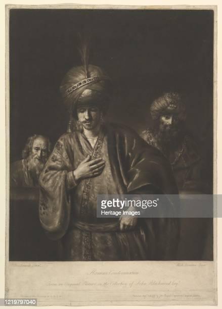 Haman's Condemnation, 1740-75. After Rembrandt. Artist Richard Houston.