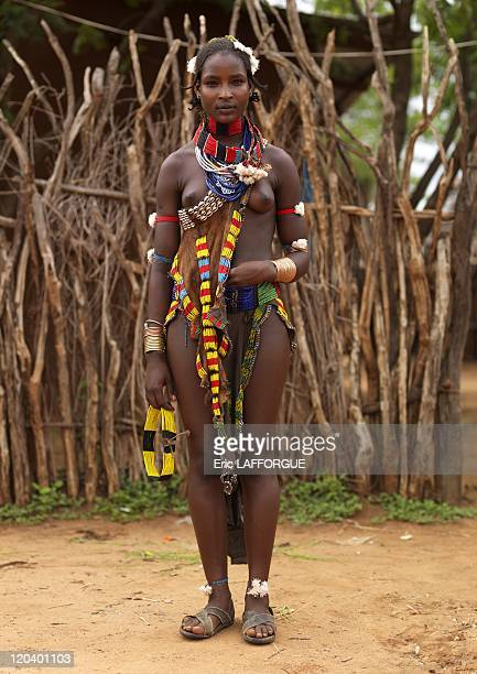 Hamar woman Omo valley in Ethiopia on October 27 2008 Hamar in Turmi Ethiopia not yet married The Hamar live on the eastern side of the Omo Valley in...