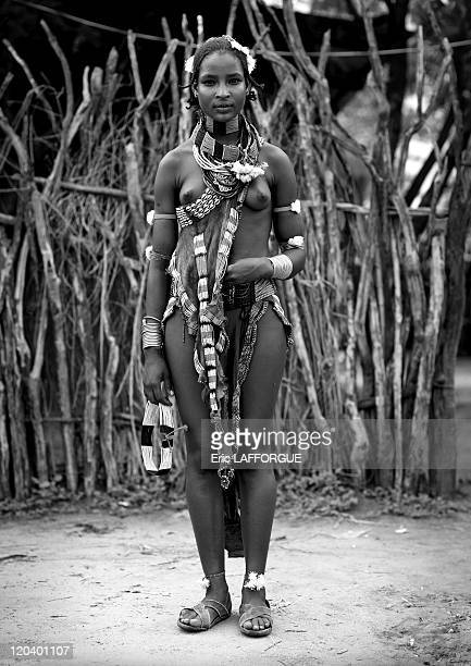 Hamar woman Omo valley in Ethiopia on October 27 2008 They are a tribe with unique rituals such as a bullleaping ceremony that young men go through...