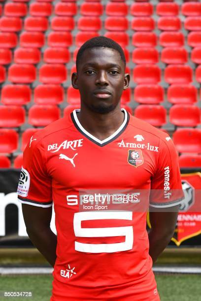 Hamari Traore during photoshooting of Stade Rennais for new season 2017/2018 on September 19 2017 in Rennes France