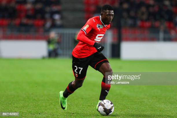 Hamari Traore of Rennes during the french League Cup match Round of 16 between Rennes and Marseille on December 13 2017 in Rennes France