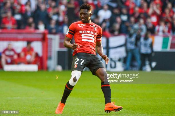 Hamari Traore of Rennes during the Ligue 1 match between Stade Rennes and Montpellier Herault SC at Roazhon Park on May 19 2018 in Rennes