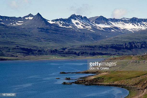 Hamarsfjordur Fjord, Iceland.