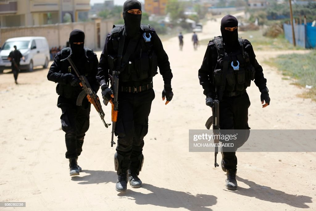 PALESTINIAN-GAZA-POLITICS-CONFLICT-ISRAEL : News Photo