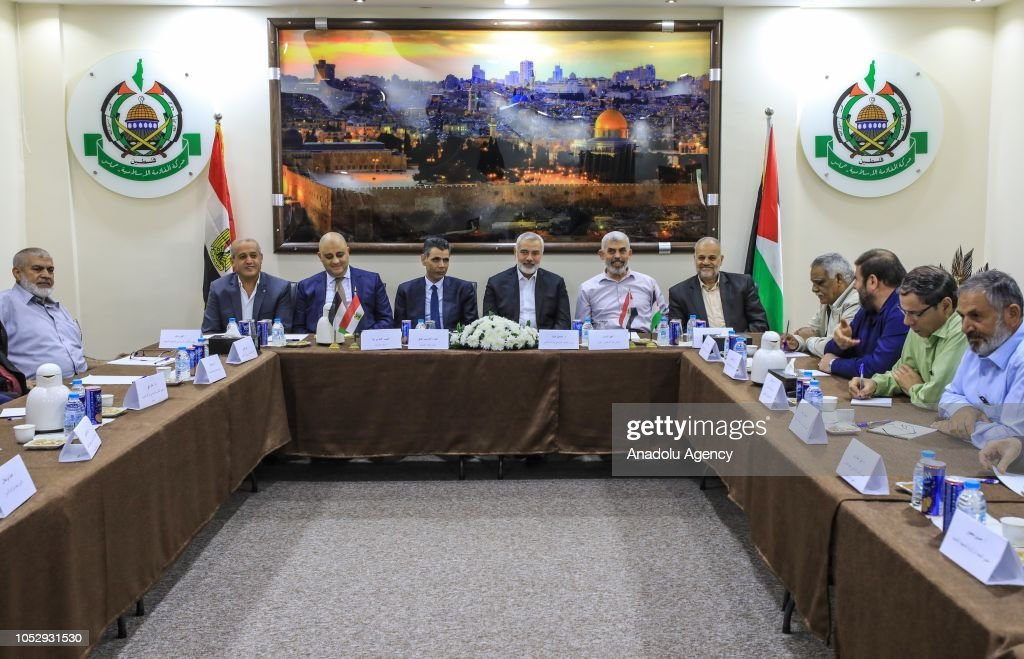 Egyptian intelligence delegation arrives in Gaza : Foto di attualità