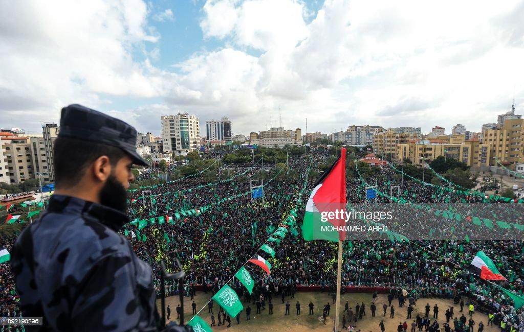 TOPSHOT-PALESTINIAN-ISRAEL-GAZA-HAMAS : News Photo