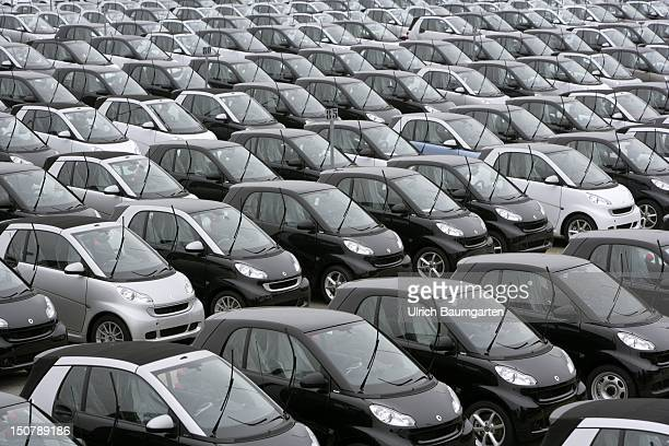 FRANCE Hambach smart fortwo car production Finished cars in 'parking lot'