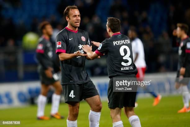 Hamburg 21 Dezember 2013 Fußball 1 Bundesliga 2013/14 Hamburger SV 1 FSV Mainz 05 Nikolce Noveski und Zdenek Pospech jubeln // © ximgs wwwximgs...
