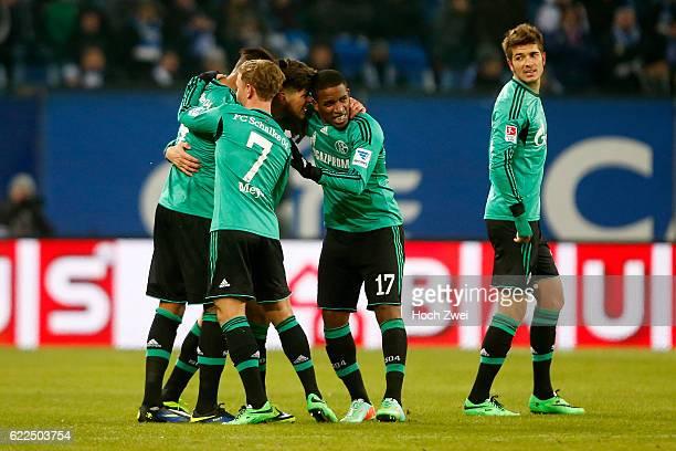 Hamburg 26 Januar 2014 Fußball 1 Bundesliga 2013/14 Hamburger SV FC Schalke 04 Torjubel nach dem Treffer zum 01 durch Klaas Jan Huntelaar // © ximgs...
