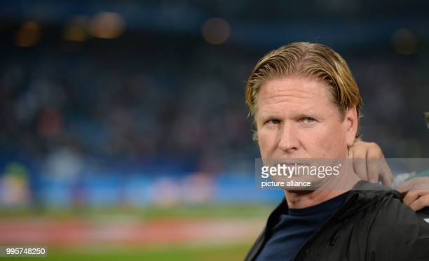 Hamburg coach Markus Gisdol pictured before kickoff at the German Bundesliga football match between Hamburg SV and Werder Bremen at the...