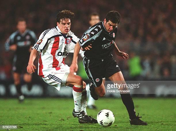 Hamburg; FC ST. PAULI - FC BAYERN MUENCHEN 2:1; Owen HARGREAVES/FC BAYERN MUENCHEN, Thomas MEGGLE/FC ST. PAULI