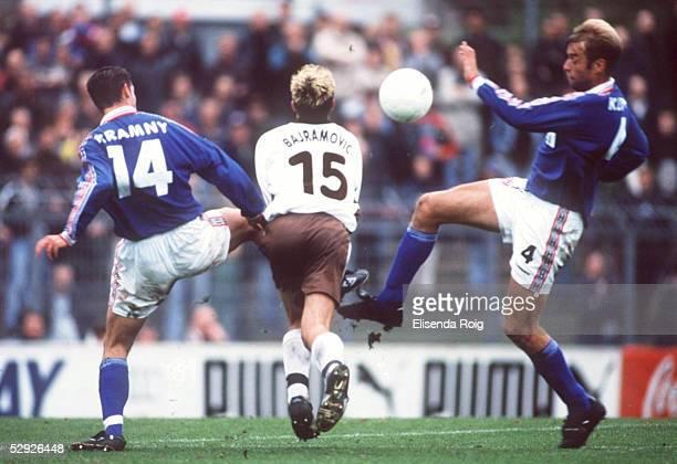 Hamburg; FC ST. PAULI - FSV MAINZ 05 2:2; Juergen KRAMNY/MAINZ, Zlatan BAJRAMOVIC/ST.PAULI, Juergen KLOPP/MAINZ