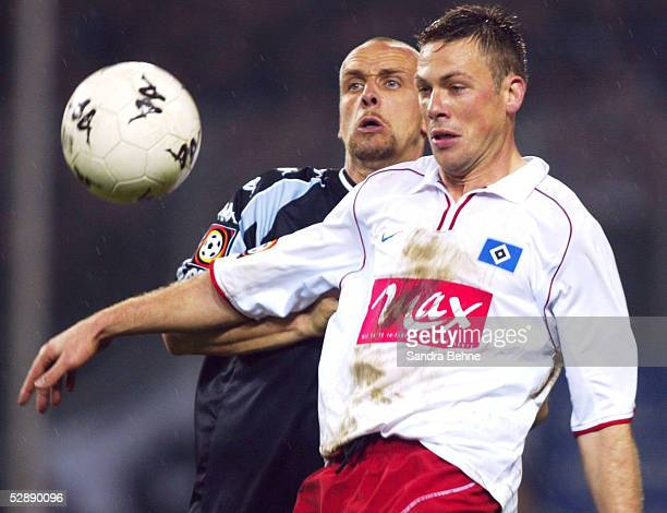 1 BUNDESLIGA 01/02 Hamburg FC ST PAULI HAMBURGER SV 04 Holger STANISLAWSKI/PAULI Erik MEIJER/HSV