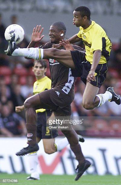 TESTSPIEL 2002 Hamburg FC StPAULI NAC BREDA MARCAO/St Pauli Juergen COLIN/Breda