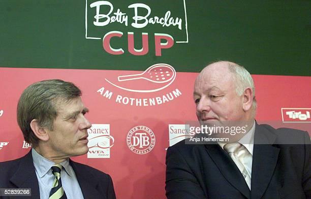 CUP 2002 Hamburg Georg Freiherr VON WALDENFELS/DTB Prsident und Walter KNAPPER/Turnierdirektor