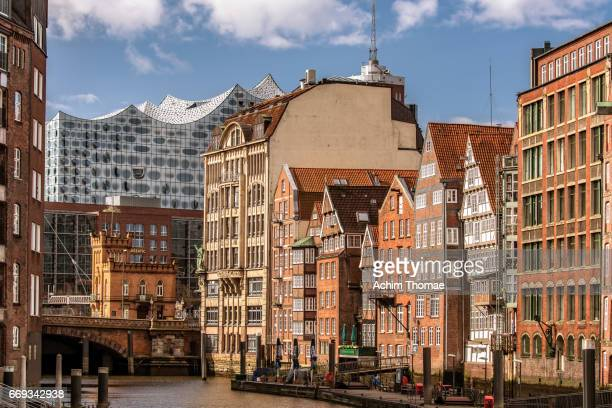 hamburg, germany, europe - stadtsilhouette stock pictures, royalty-free photos & images
