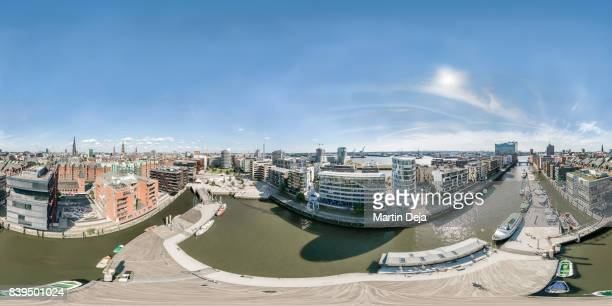 Hamburg Hafencity 360° Aerial Spherical HDR Panorama