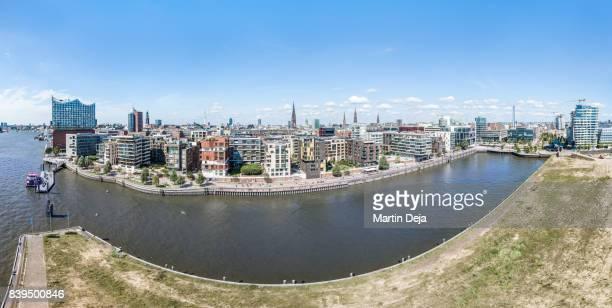 Hamburg Hafencity Aerial HDR Panorama