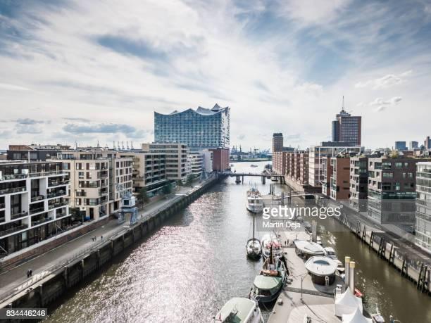 Hamburg Hafencity Aerial View HDR