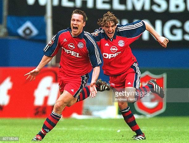 Hamburg; HAMBURGER SV - FC BAYERN MUENCHEN 1:1; FC BAYERN MUENCHEN MEISTER; JUBEL zum 1:1 Patrik ANDERSSON, Owen HARGREAVES/BAYERN