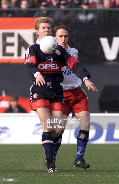 1 BUNDESLIGA 98/99 Hamburg HAMBURGER SV FC BAYERN MUENCHEN Stefan EFFENBERG/BAYERN Fabian ERNST/HAMBURGER SV
