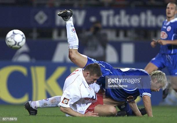 1 BUNDESLIGA 01/02 Hamburg HAMBURGER SV FC HANSA ROSTOCK 01 Erik MEIJER/HSV Rayk SCHROEDER/ROSTOCK