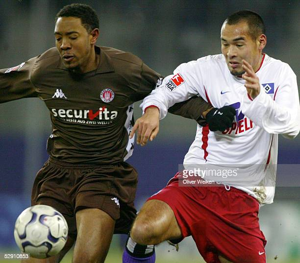 Hamburg HAMBURGER SV FC St PAULI Cory GIBBS/St Pauli Naohiro TAKAHARA/HSV
