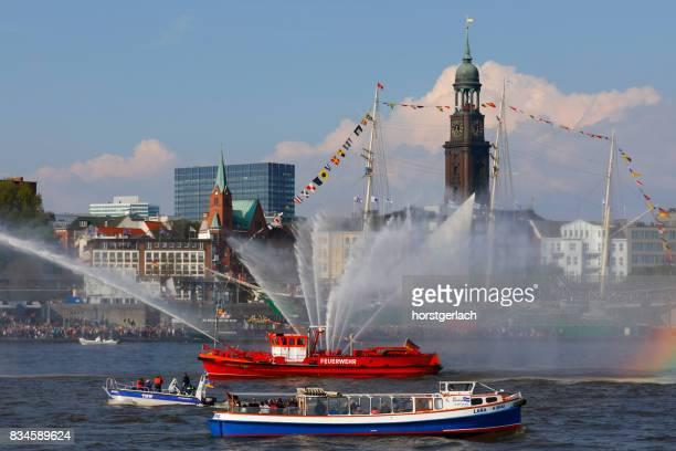 ハンブルク港のバースデー パレード (Hafengeburtstag) 2017 年ドイツ