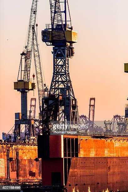 ハンブルグ港クレーン