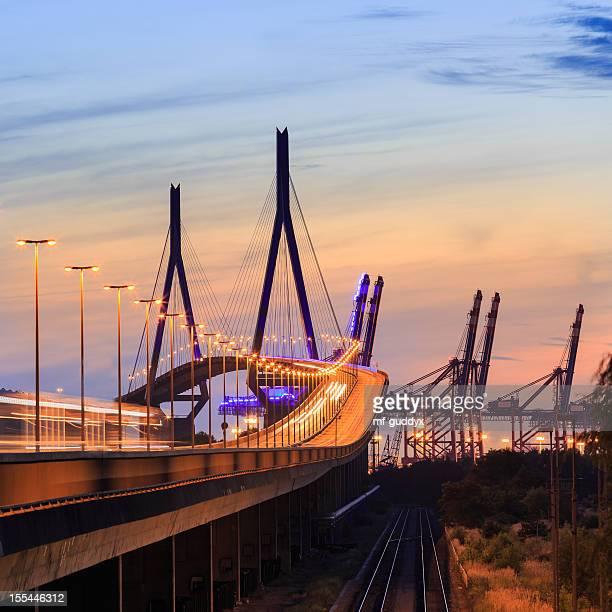Hamburg harbour bridge, Koehlbrandbruecke