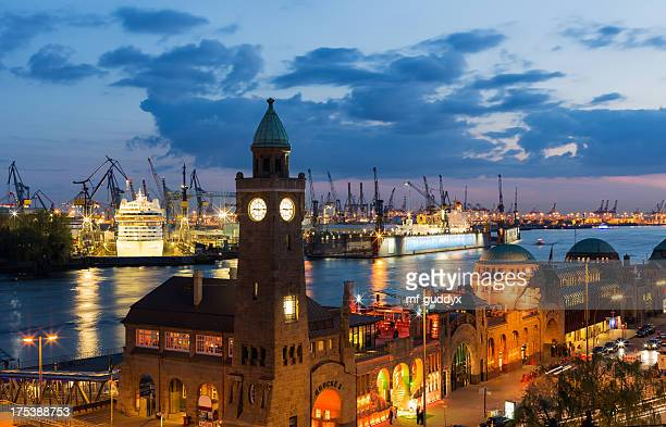 Hamburg harbour, Elbe river